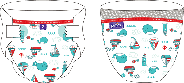 Подгузники Pufies Art&Dry Maxi 4 Кит