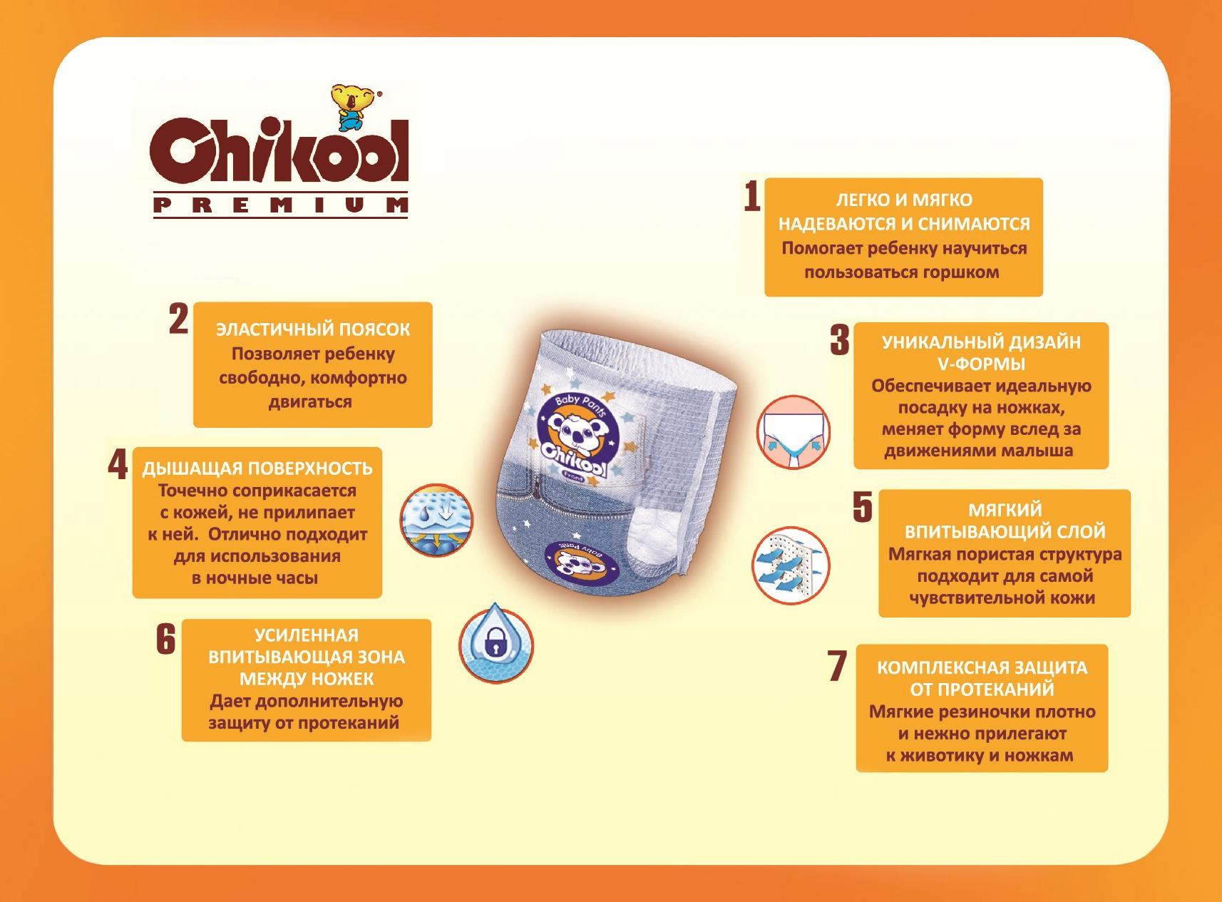 Подгузники-трусики Chikool Premium XL
