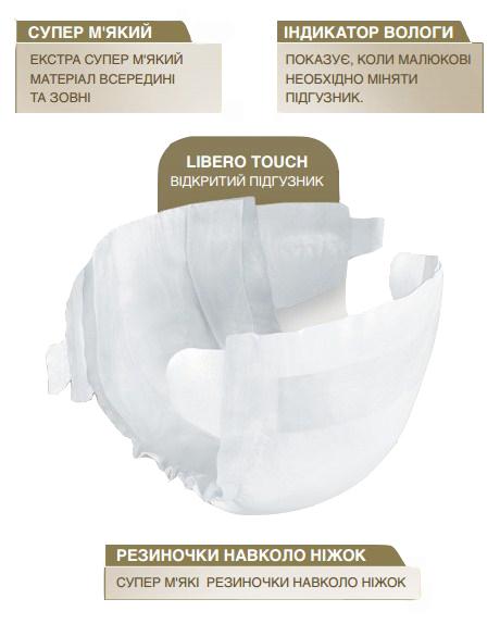 Одноразовые подгузники Libero Touch 3