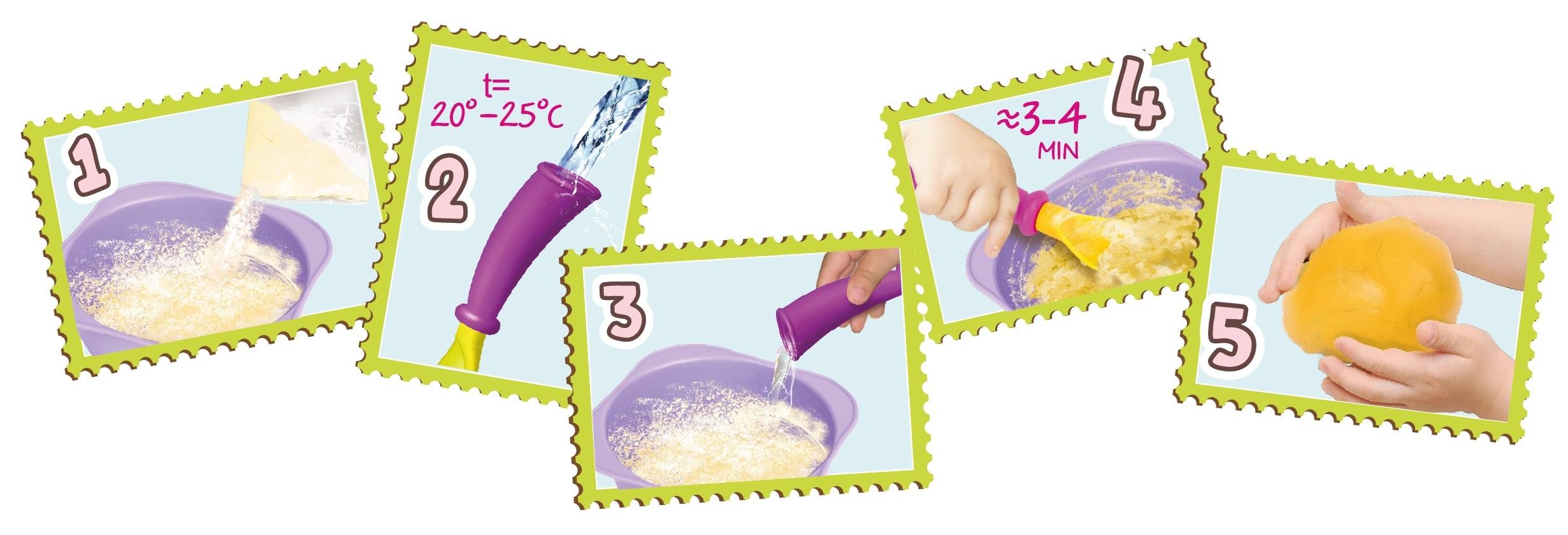 Набор смесей для лепки TrueDough Сладкий апельсин и Виноградно-фиолетовый