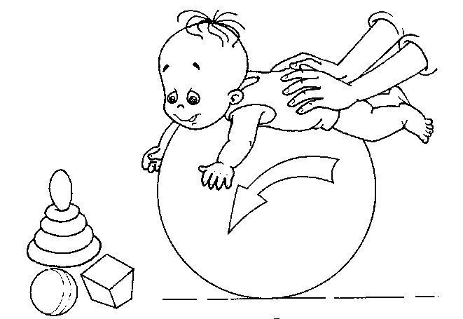 упражнения с малышом на фитболе