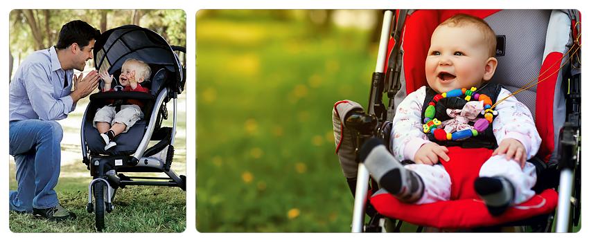 элементы безопасности в прогулочных колясках