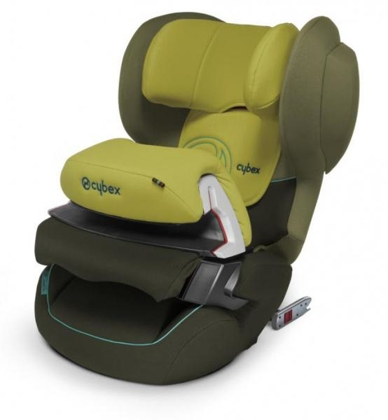 Автокресло Cybex Juno 2-Fix Graffiti Green, зеленый - Pampik