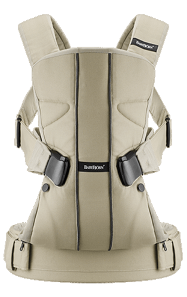Рюкзак-кенгуру Babybjorn Baby Carrier One Cotton, бежевый - Pampik