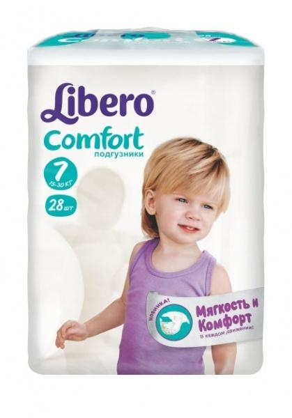 Подгузники Libero Comfort XL Plus 7 (15-30 кг) 28 шт.