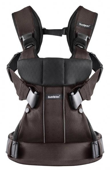 Рюкзак-кенгуру Babybjorn Baby Carrier One Mesh, черно-коричневый