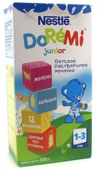 Сухое растворимое молочко Nestle DoReMi Junior, 350 г