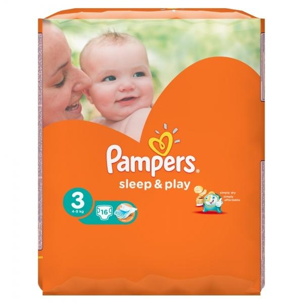 Подгузники Pampers Sleep&Play Midi 3 (4-9 кг) 16 шт.+Подарок (Pampers Premium Care Midi, 2 шт.) - Pampik - 4