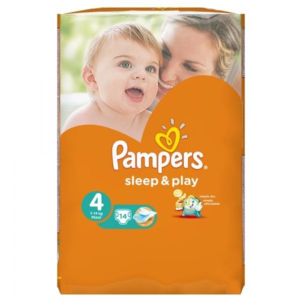 Подгузники Pampers Sleep&Play Размер 4 (Maxi) 8-14 кг, 14 шт. - Pampik - 3