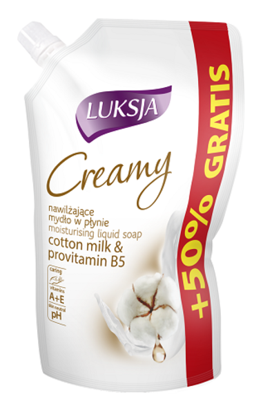 Крем-мыло Luksja Cotton Milk & Provitamin B5, 400 мл