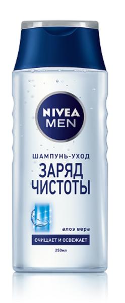 Шампунь Nivea Men Заряд чистоты, для мужчин, 250 мл