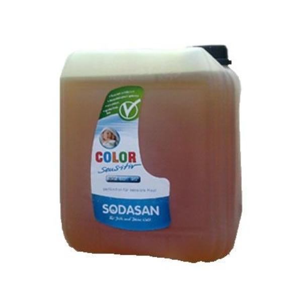 Органическое жидкое средство Sodasan Color-sensitiv для белого и цветного белья, 5 л