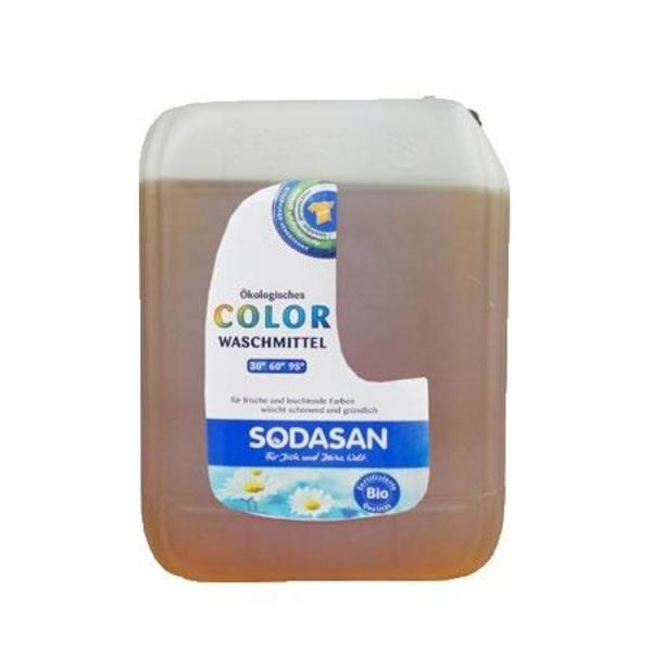 Органическое жидкое средство Sodasan Color для цветных и черных вещей, 5 л