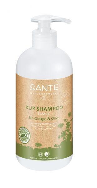 БИО-Шампунь для волос восстанавливающий Sante Гинкго Билоба и Олива, 500 мл