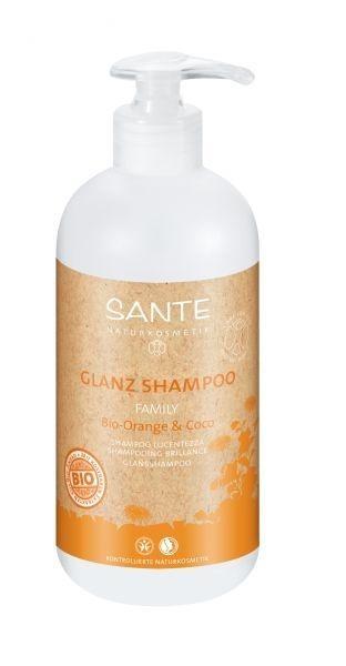 БИО-Шампунь для волос Sante для блеска и объема волос Апельсин и Кокос, 950 мл