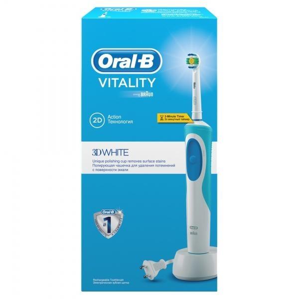 Электрическая зубная щетка Oral-b Vitality 3D White