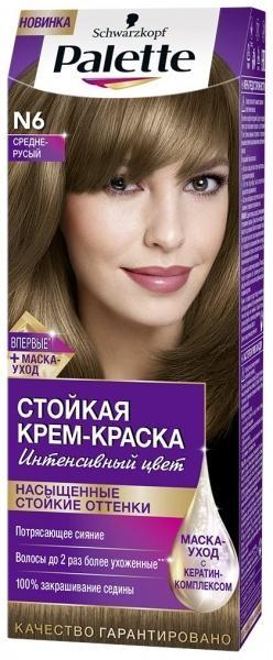Краска для волос Palette N-6 Средне-русый, 110 мл