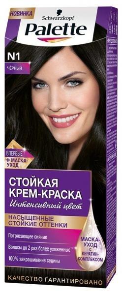 Краска для волос Palette N-1 Черный, 110 мл