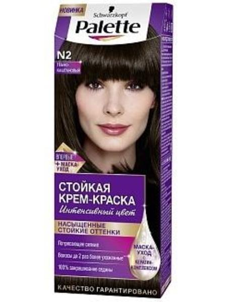 Краска для волос Palette N-2 Темно-каштановый, 110 мл