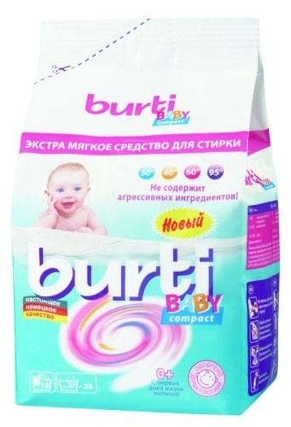 Бесфосфатный стиральный порошок Burti Baby Compact для детского белья, 0,9 кг