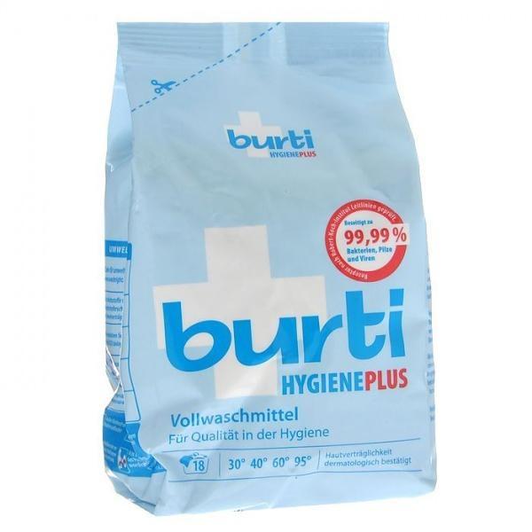 Стиральный порошок гигиенический Burti Hygiene Plus, для белых и цветных тканей, 1,1кг