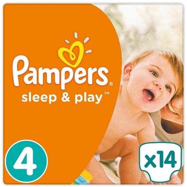 Подгузники Pampers Sleep&Play Размер 4 (Maxi) 8-14 кг, 14 шт. - Pampik