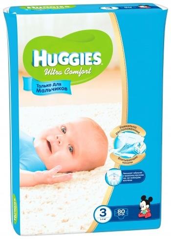 Уценка! Подгузники Huggies Ultra Comfort для мальчиков 3 (5-9 кг) MEGA 048557e9ccb
