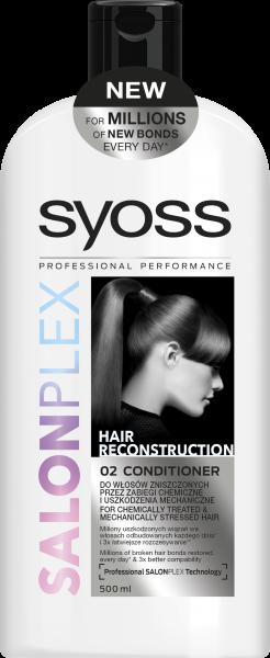 Бальзам Syoss Salon Plex для ослабленных механическим воздействием волос, 500 мл
