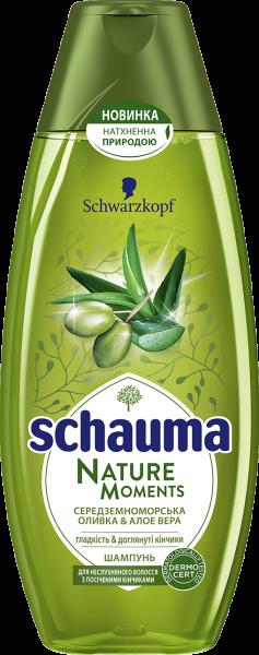 Шампунь Schauma Nature Moments Средиземноморская оливка & Алоэ вера, 400 мл