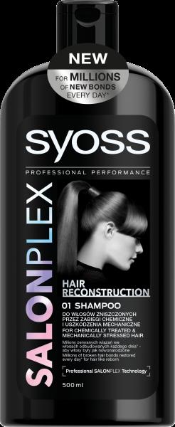 Шампунь Syoss Salon Plex для ослабленных механическим воздействием волос, 500 мл