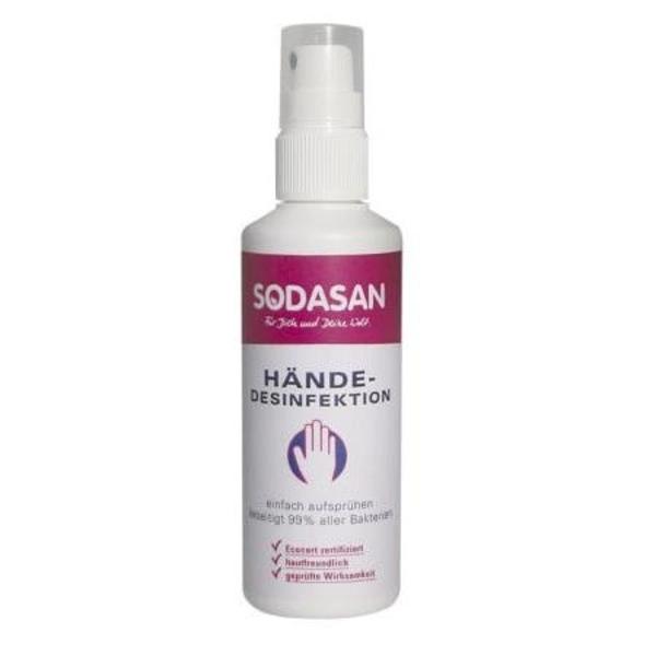 Органический антибактериальный спрей для рук Sodasan, 100 мл