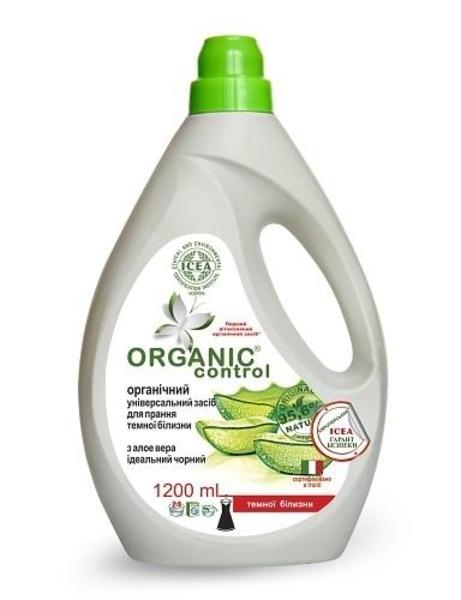 Органическое универсальное средство Organic Control с Алоэ вера, для стирки темных тканей,1,2 л