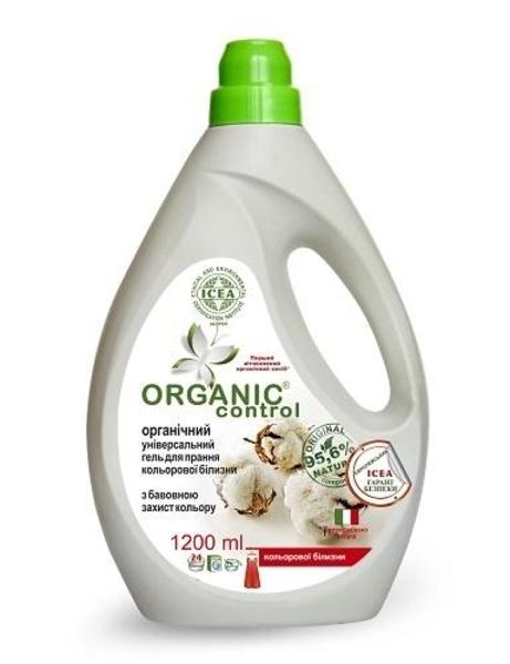 Органический универсальный гель Organic Control Защита цвета, для стирки цветного белья с хлопком, 1,2 л