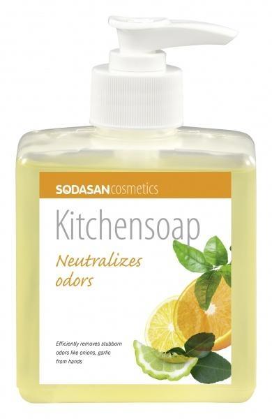 Органическое кухонное мыло для нейтрализации запахов Sodasan, 300 мл (8036)