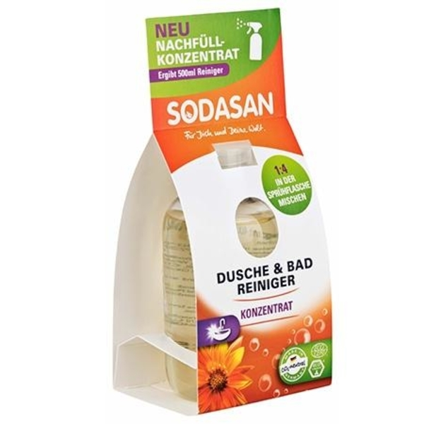 Органическое очищающее средство для ванной комнаты (запаска-концентрат) Sodasan, 100 мл