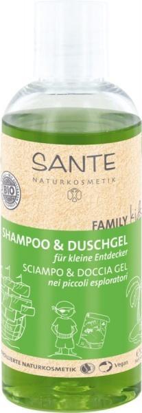 БИО-Шампунь для волос и тела Sante Family Kids Алоэ, 200 мл