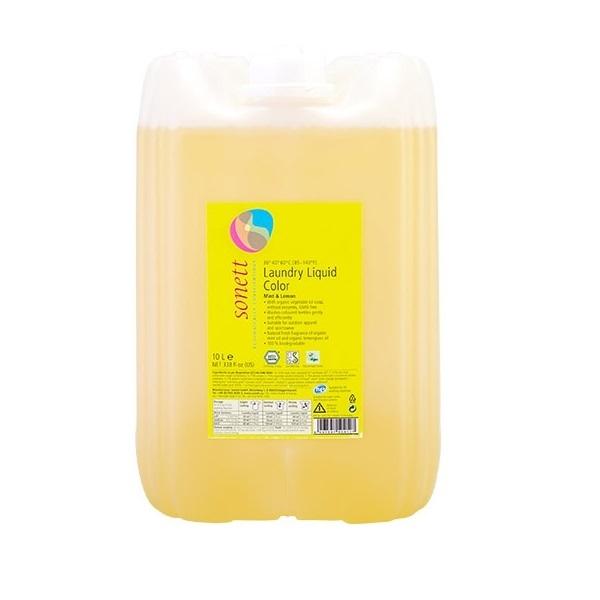 Концентрированное органическое жидкое средство Sonett для стирки цветных тканей, 10 л