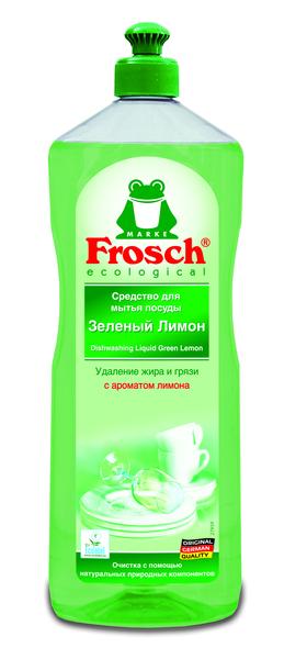 Средство для мытья посуды Frosch Зеленый лимон, 1 л
