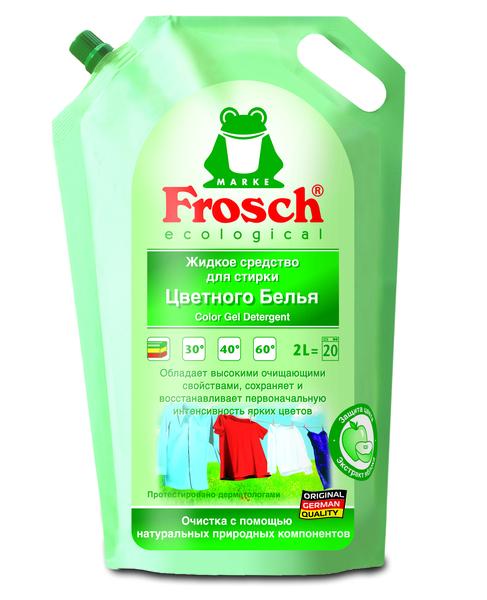 Жидкое средство Frosch, для стирки цветных тканей, 2 л