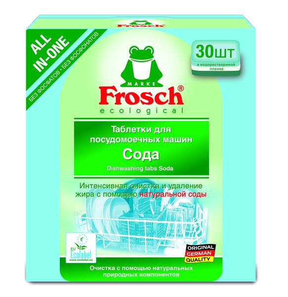 Таблетки для посудомоечных машин Frosch Сода, 30 шт.