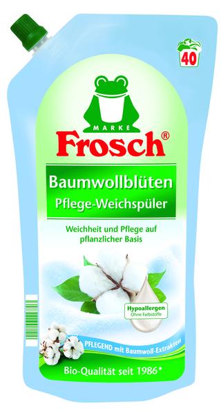 Ополаскиватель для белья Frosch Цветы хлопка, 1 л