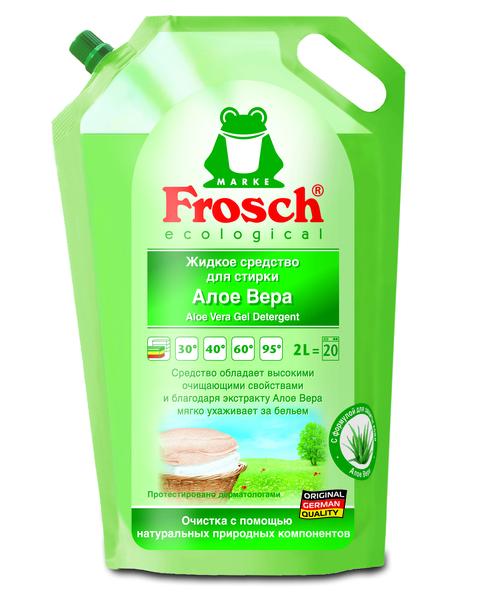 Жидкое средство для стирки Frosch Алоэ Вера, 2 л