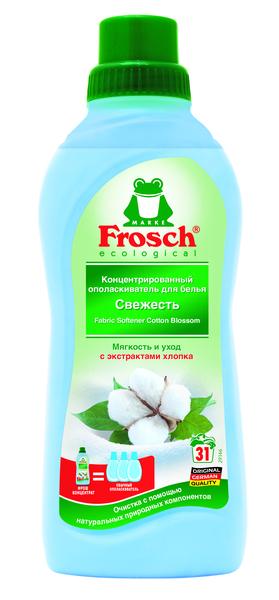 Ополаскиватель для белья Frosch Цветы хлопка, 750 мл