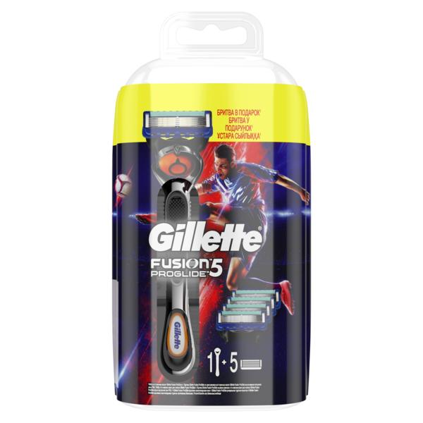 Подарочный набор Gillette Fusion ProGlide, станок + сменные картриджи (740289)
