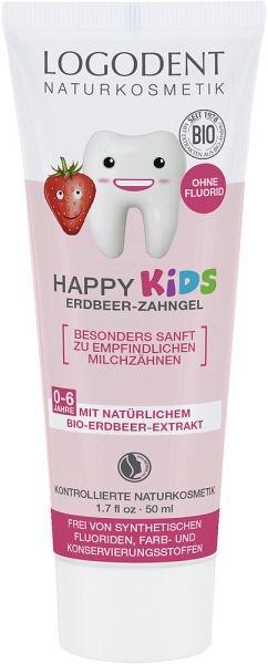 Детский зубной био-гель Logodent Kids Клубника, 50 мл