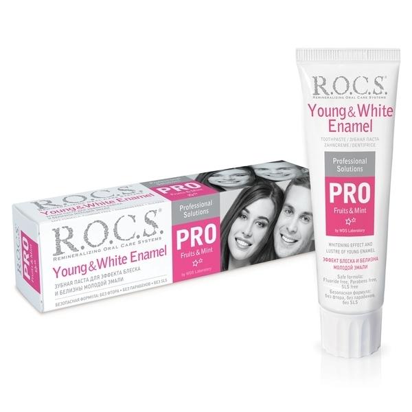 Зубная паста R.O.C.S. PRO Young & White Enamel, 135 г