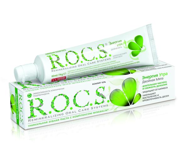 Зубная паста R.O.C.S. Двойная мята, 74 г
