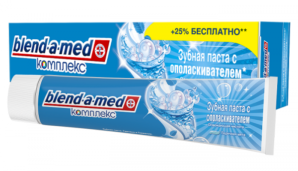Зубная паста Blend-a-med Комплекс 7 с ополаскивателем, 125 мл