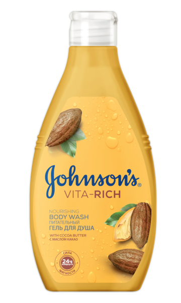 Гель для душа JOHNSON'S Body Care Vita Rich Питательный с маслом какао, 250 мл