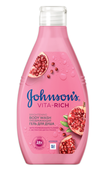 Гель для душа JOHNSON'S® Body Care Vita Rich Преобразующий с экстрактом граната, 250 мл
